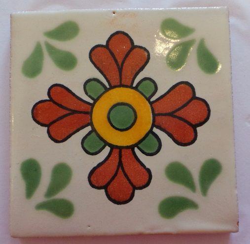 Handmade Terracotta Tile Coaster - M56
