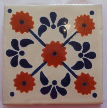 Handmade Terracotta Tile Coaster - M63
