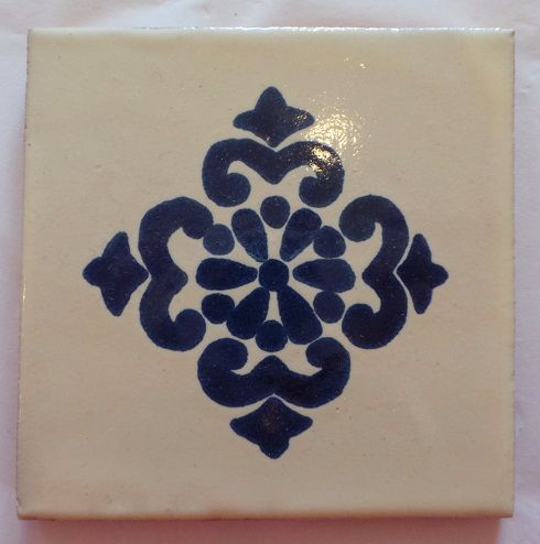 Handmade Terracotta Tile Coaster - M65