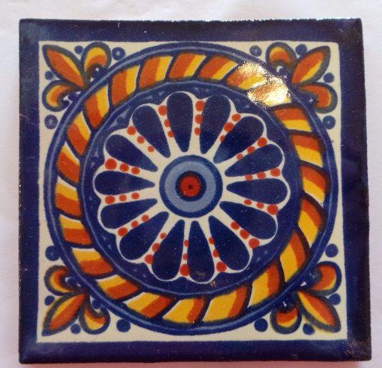 Handmade Terracotta Tile Coaster - T14