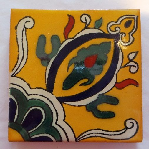 Handmade Terracotta Tile Coaster - T15