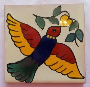 Handmade Terracotta Tile Coaster - T17