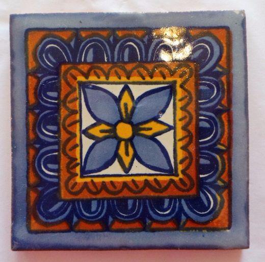 Handmade Terracotta Tile Coaster - T19