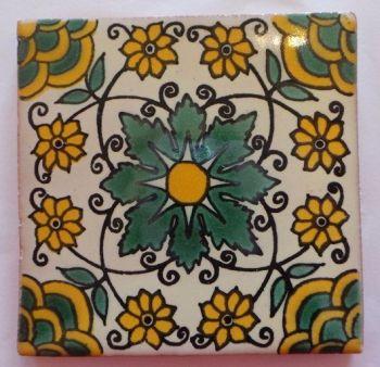 Handmade Terracotta Tile Coaster - T23