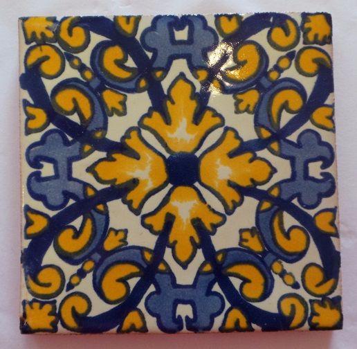Handmade Terracotta Tile Coaster - T28