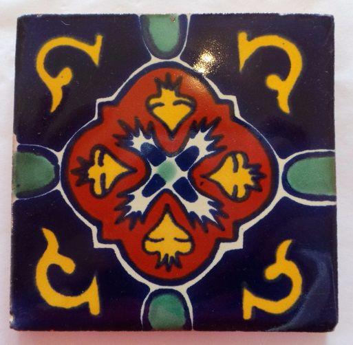 Handmade Terracotta Tile Coaster - T4
