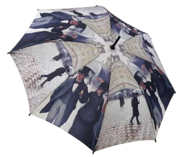 Caillebotte Rainy Day in Paris Umbrella