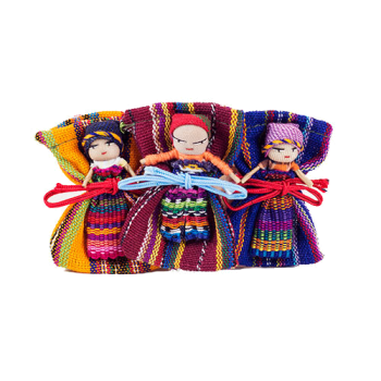 Worry Doll with Fabric Bag