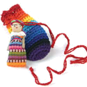 Worry Dolls in Crochet Bag