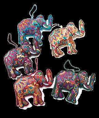 Elephant Embroidered Hanging Decoration