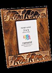 Elephant Carved Photo Frame