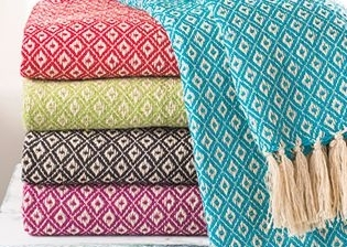 Cotton and Linen Throws