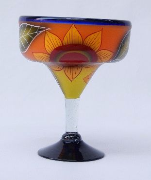 Sunflower Margarita Glass