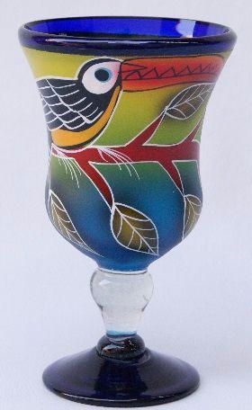Toucan Polka Stem Glass