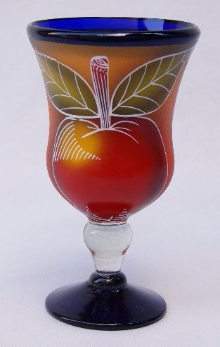 Fruity Polka Stem Glass