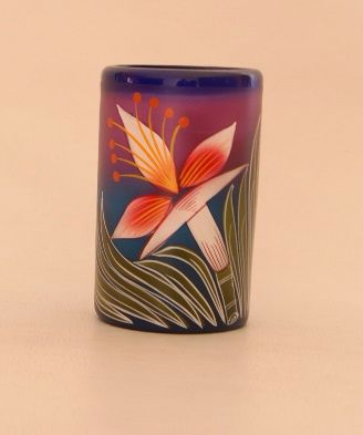 Flower Tumbler Glass