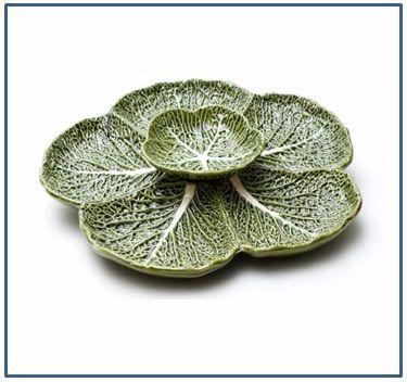 Cabbage Sectional Dip Plate