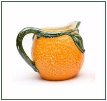 Orange Round Jug