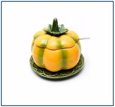 Pumpkin Squash Sauce or Jam Pot