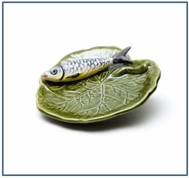 Sardine on a Leaf Small Plate