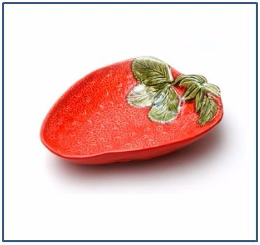 Strawberry Shallow Dish