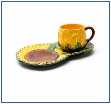 Sunflower Cup and Biscuit Saucer