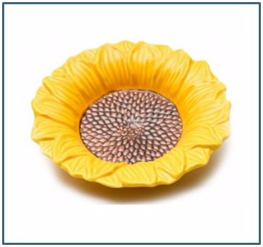 Sunflower Shallow Soup Bowl