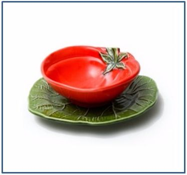 Tomato Bowl and Plate