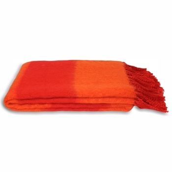 Twizzle Blanket - Red-Orange