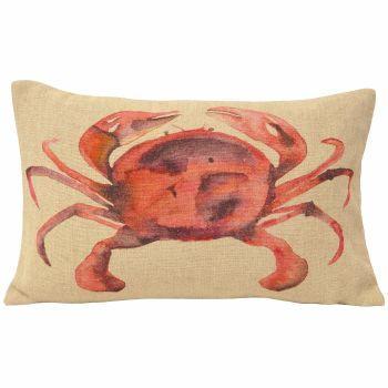 Watercolour Cushion - Crab