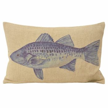 Watercolour Cushion - Fish
