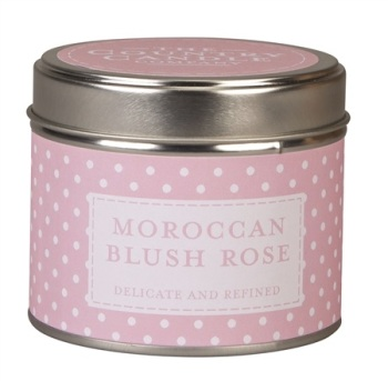 Candle in Tin - Moroccan Blush Rose