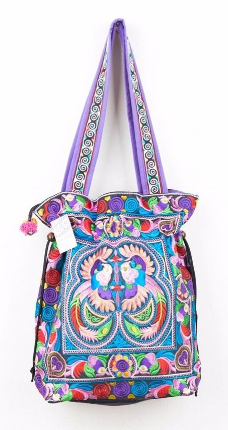 Embroidered Hmong Tote Bag - Multi