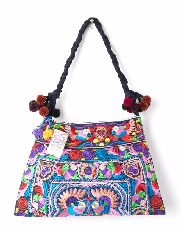 Hmong Embroidered Shoulder Bag - Multi