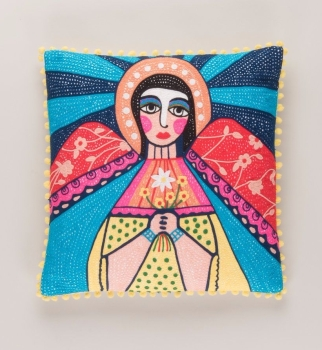 Embroidered Cushion - Mother Mary