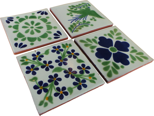 Coaster Set - Green and Blue