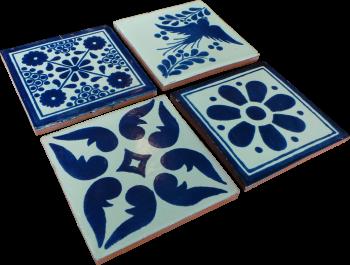 Coaster Set of 4 - Blue (b)