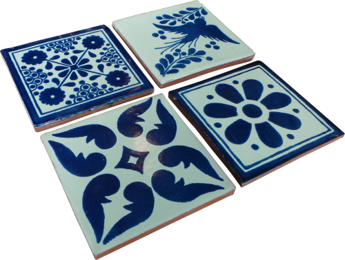 Coaster Set of 4 - Blue (b)