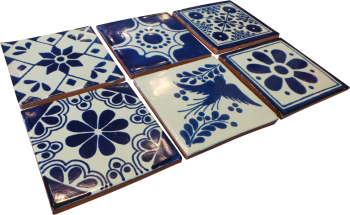 Coaster Set of 6 - Blue
