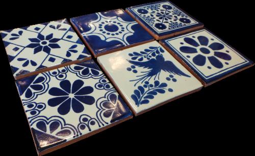 Coaster Set of 6 - Blue