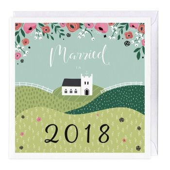 Married in 2018 Card