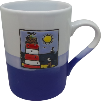 450ml Mug - Red Lighthouse