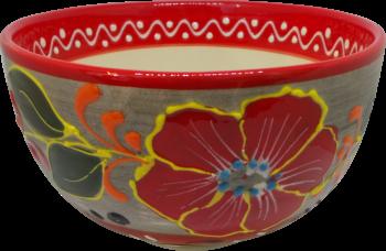15cm Cereal Bowl - Flor Rojo