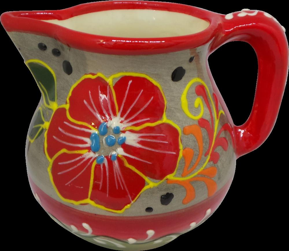 Milk Jug - Flor Rojo
