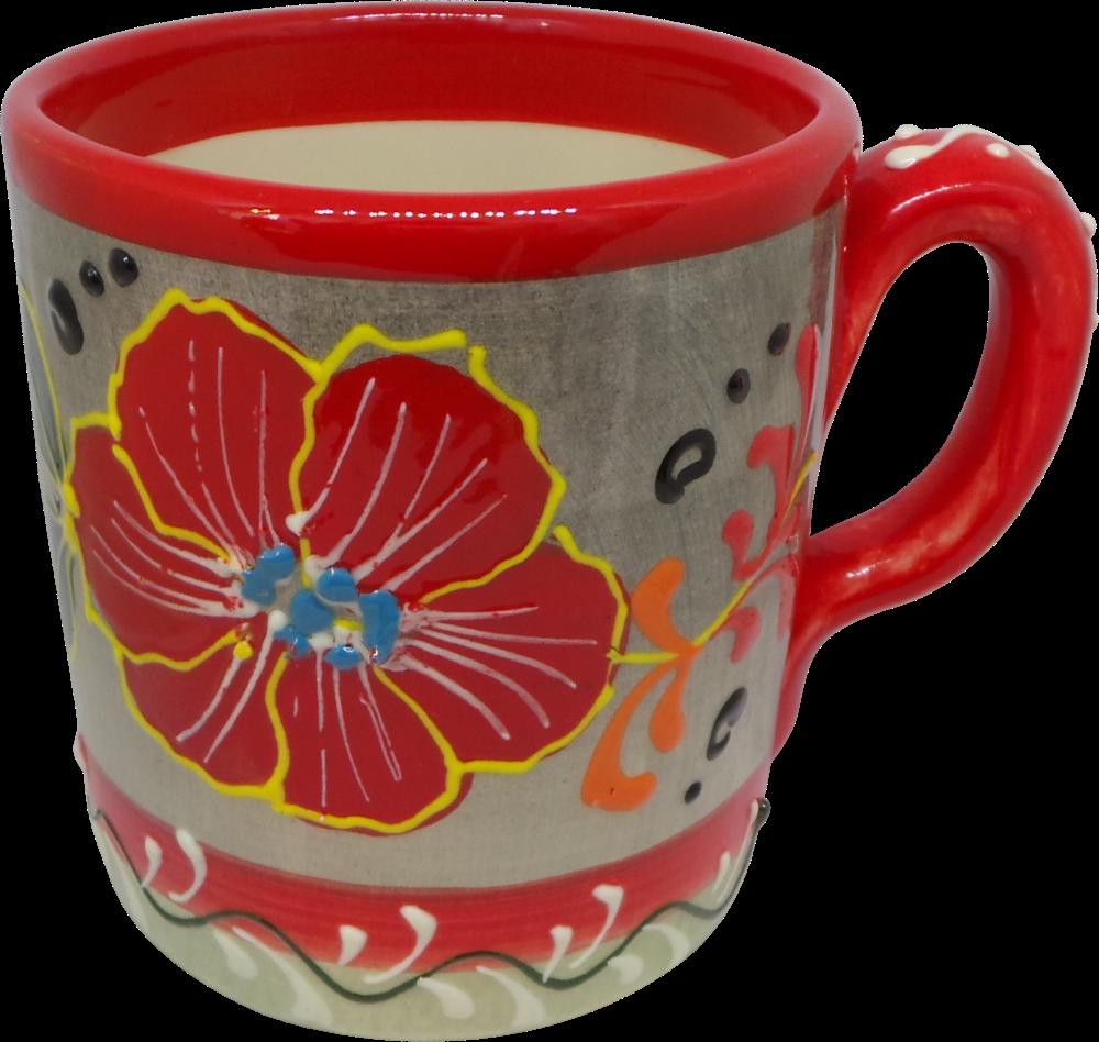 Mug - Flor Rojo