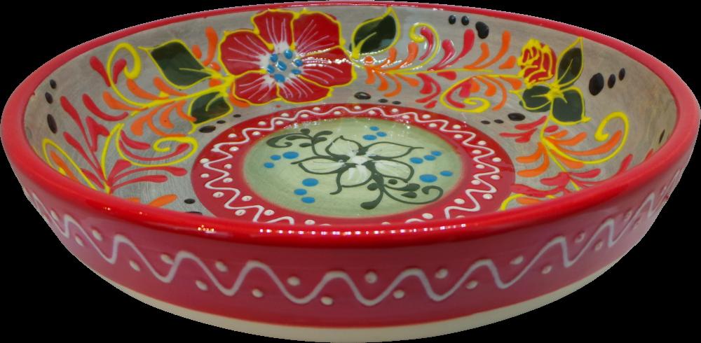 Shallow 23cm Bowl - Flor Rojo