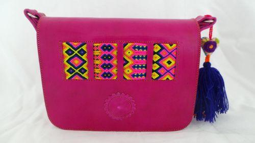 Mexican Woven Bag - Fuchsia