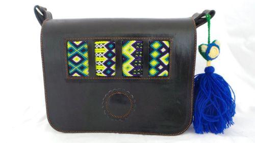Mexican Woven Bag - Black (3)
