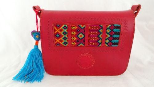 Mexican Woven Bag - Red (4)