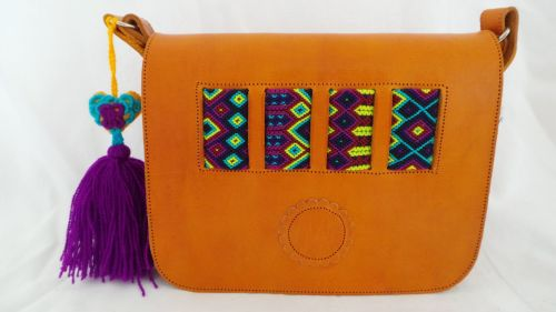 Mexican Woven Bag - Mustard (8)